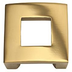 "Atlas Homewares Centinel 1-1/4"" (32mm)c.c. Square Cabinet Knob (Satin Brass) AHW-255-B Cabinet Knobs, Cabinet Hardware, Furniture Knobs, Home Projects, Designer, Brass, House Styles, Collection"