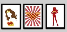 Wonder Woman Print Set by EdmondsonbyDesign on Etsy, $27.00