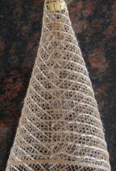 mesh ribbon angel, crafts, seasonal holiday decor, wreaths, Glue ball onto one end of mesh ribbon to form main body