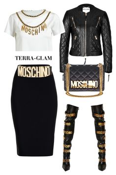 """""""Moschino Takeover"""" by terra-glam ❤ liked on Polyvore featuring Moschino and Roland Mouret"""