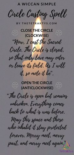 All wiccan spells are based around the three c's: Consecrating, Cleansing and Charging. In this article, I am showing you how I consecrate my own tools, in a very detailed way. You will also learn how to cast a sacred circle and how to call the Elemental Guardians. Click here to read more! Pagan Witch, Witch Spell, Witches, Moon Spells, Magick Spells, Witchcraft, Candle Spells, Paganism, Wiccan Chants