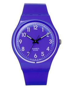 Swatch Watch, Unisex Swiss Callicarpa Purple Polyurethane Strap 34mm GV121   macys.com