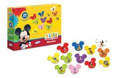 1898.7 - Memória Mickey Club House Disney | Com 24 peças em madeira reflorestada. | Faixa etária: + 3 anos | Medidas: 24 x 5 x 18 cm | Licenciados | Xalingo Brinquedos | Crianças