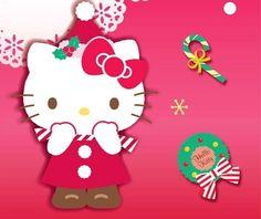 Hello kitty in Christmas Hello Kitty Crafts, Sanrio Hello Kitty, Hello Kitty Backgrounds, Hello Kitty Wallpaper, Hello Kitty Christmas, Merry Christmas, Xmas, Sanrio Wallpaper, Hello Kitty Pictures