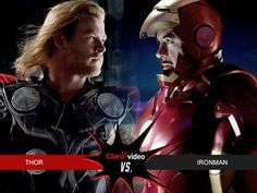 Ellos se enfrentan y tú decides quién ganará ¿Thor vs Iron Man?  #MesdelSuperhéroe