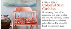 love this little coral chair