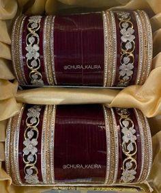 Indian Bridal Jewelry Sets, Bridal Bangles, Indian Bridal Fashion, Wedding Jewelry Sets, Bridal Accessories, Gold Bangles, Chuda Bangles, Couple Wedding Dress, Bridal Chuda