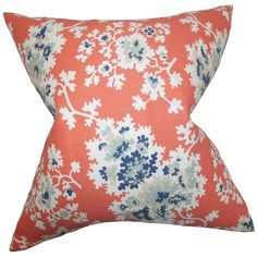 With a vibrant pop of color and a blooming floral pattern, this accent pillow adds a fun twist to your home. Toss this throw pillow over your bed, sofa or seat to add comfort and texture.