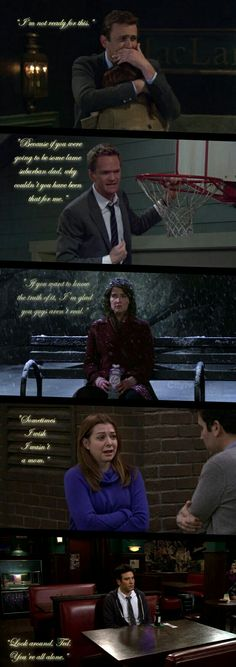 This show is full of comedy but it's also about real life and it has these really sad moments and are true and aren't in other comedies which is why I love himym Love Quotes Funny, Tv Quotes, Funny Quotes About Life, Funny Love, Funny Sayings, Mom Funny, Life Quotes, Funny Memes, Hilarious
