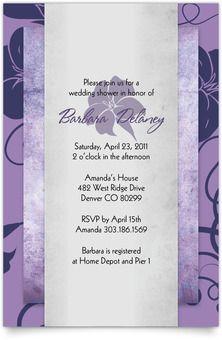 Linen Wedding Shower Invitation - Iridescent Floral #bridal #shower