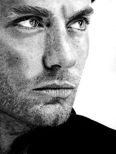 Jude Law Pencil Drawing By Paul Stowe