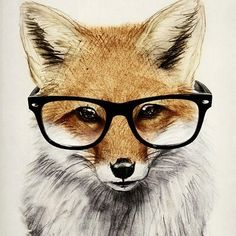 Mr. #Fox Art Print by Isaiah K. Stephens | #Society6 http://bit.ly/21QHDdP