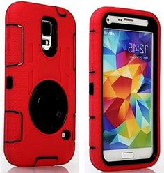 "myLife Three Layer Shockproof ""Built In Screen Protector"" Security Armor Case for Galaxy S5 by Samsung {Scarlet Red and Matte Black with Ring Stand ""Protective Tuff Shell Design"" Hybrid Triple Piece BOX Protector Shield with Rubberized Gel} myLife Brand Products http://www.amazon.com/dp/B00QR2ZUPA/ref=cm_sw_r_pi_dp_uJ-Xub0H65QXB"