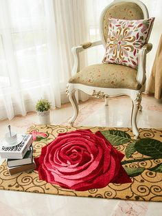 Shop Pastoral Style Stereo Rose Pattern Door Mat online at Jollychic,FREE SHIPPING!