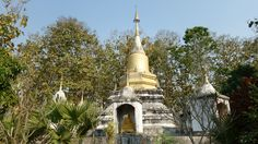 A stupa in the oldest Wat in Pai, Thailand