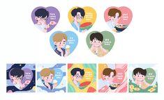 Kpop Drawings, Cartoon Drawings, Cute Drawings, Journal Stickers, Planner Stickers, Printable Stickers, Cute Stickers, Cartoon Art Styles, Aesthetic Stickers
