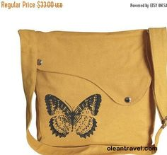 Halloween Sale 10% off Yellow canvas shoulder bag, messenger bag, crossbody bag, travel bag with butterfuly printed, personalized screen pri - http://oleantravel.com/halloween-sale-10-off-yellow-canvas-shoulder-bag-messenger-bag-crossbody-bag-travel-bag-with-butterfuly-printed-personalized-screen-pri