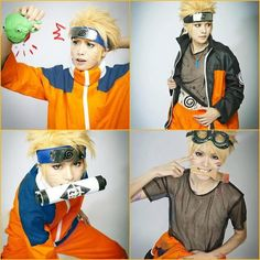 Naruto is the only one who doesn't have exact clones in real life, so this person did a pretty good job.