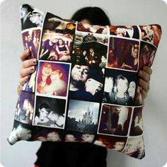 That is a pillow with your pictures on it