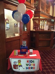 Budget Vote Day here at the library! Polls are open until 9pm. We also have a special Kid's Vote!
