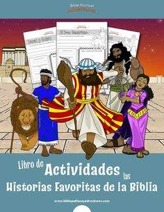 Libro de Actividades de las Historias Favoritas de la Biblia | Contiene 70 hojas de ejercicios que abarcan las historias más famosas de la Biblia, desde Adán y Eva hasta el naufragio de Pablo. Bible Resources, Bible Activities, Plagues Of Egypt, Bible Stories For Kids, Free Bible, Worksheets For Kids, School Teacher, Sunday School, Kids And Parenting