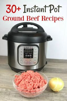 This list of Instant Pot Ground Beef recipes is the best list to keep on hand for busy days. They're pretty inexpensive, too! This list of Instant Pot Ground Beef recipes is the best list to keep on hand for busy days. They're pretty inexpensive, too! Power Cooker Recipes, Pressure Cooking Recipes, Crock Pot Cooking, Oven Recipes, Recipies, Fast Recipes, Healthy Recipes, Cooking Pork, Cooking Eggs