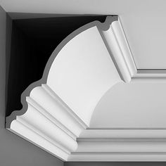 """C336 Crown Molding, Primed White. Face: 14-3/4"""" Length: 78-3/4"""" ____________________________ Request Your FREE Catalog: http://form.outwater.com/oracusa.php"""
