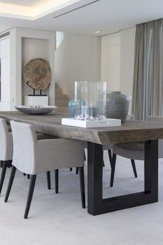 24 Top Modern Industrial Dining Furniture Set Design and Decorating Ideas - Page 13 of 26 Furniture Sets Design, Dining Furniture Sets, Dining Room Sets, Dining Room Chairs, Furniture Stores, Contemporary Dining Table, Dining Table Design, Rustic Contemporary, Esstisch Design