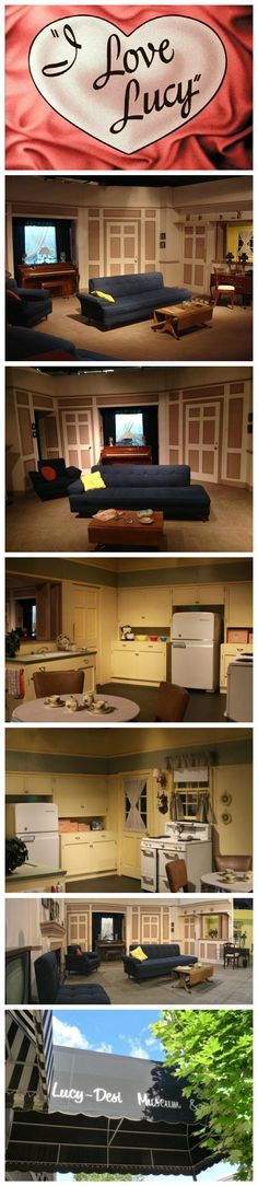 '' I LOVE LUCY'' I always wondered as a kid how did this apt look in color. This is the actual set saved in a museum