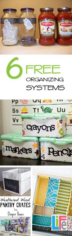 These organizing systems are not only FREE they are cute too!  I love this organizing blog!