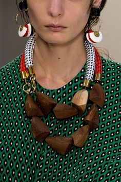 chunky wood beaded necklace - Marni Spring 2015