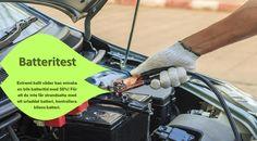 Batteritest Det är en bra idé att testa ditt bilbatteri en gång om året. Om bilen är mer än 5 år gamla (och beroende på hur mycket du kör), kan det vara dags att undersöka batteribyte. Vänta inte tills motorn vägrar att slå på i mitten av en snöstorm när det är -20 ° C utanför! #dubbfriadäcken