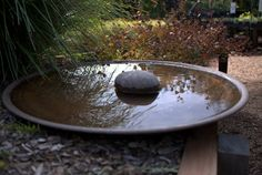 Spun Copper Bird Baths and Water Bowls on Display at Sydney Wildflower Nursery - Mallee Design Large spun copper DishLarge spun copper Dish