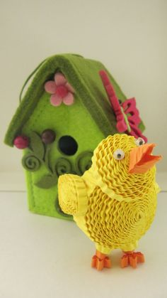 3D Easter chick / Easter decoration / Paper quilling ornament / 3d quilling…