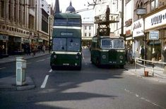 No 40 Willford Road trolleybus at the junction of Lister Gate, Broad Marsh and Carrington Street, Nottingham, early Nottingham City, Routemaster, Double Decker Bus, Bus Coach, London Transport, Commercial Vehicle, Historical Pictures, North Yorkshire, Old Photos