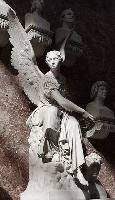 Stone Carved Marble Angel Sculpture Statue - We are manufacturer, exporters and suppliers. You can contact us at www. Cemetery Angels, Cemetery Statues, Cemetery Art, Angels Among Us, Angels And Demons, Engel Illustration, Statue Ange, I Believe In Angels, Ange Demon