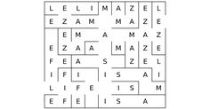 Maze | Festisite Can insert spelling word list and it will make a maze with the words.