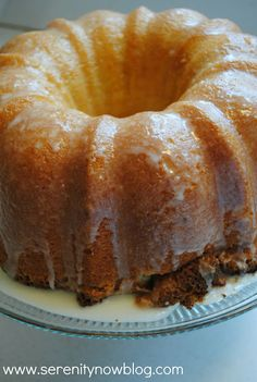 Key Lime Pound Cake...my review - hubby wouldn't wait for glaze! Ate the first slice without and said it was outstanding. It was very good, I have to agree!