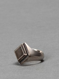 ANN DEMEULEMEESTER SILVER RING. This one sells for $750... Makes my rectangle ring look like a great deal. http://mkmk.bigcartel.com/product/rectangle-ring