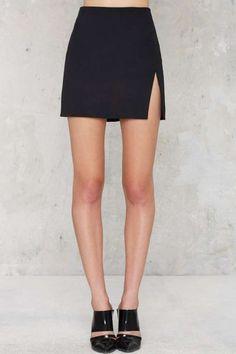 Nasty Gal Slit or Miss Mini Skirt - Skirts - Dream Closet - Jupe Look Fashion, Skirt Fashion, Fashion Outfits, Gothic Fashion, Mode Outfits, Skirt Outfits, Winter Rock, Mini Skirt Style, Sexy Cocktail Dress