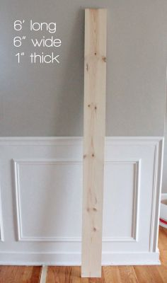 giant ruler growth chart DIY for painted numbers, not vinyl.