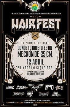 THE HAIR FEST 12 de abril Polyforum Siqueiros.