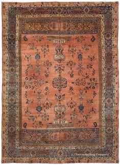 19th Century Ghazan Sarouk Room Size Oriental Carpet