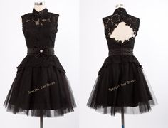 Lace black prom dress Coktail dress Homecoming by SpecialDayDress, $136.00