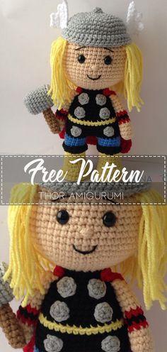 Thor Amigurumi – Pattern Crochet – Cute Crochet Crochet Game, Crochet Baby Toys, Crochet For Boys, Cute Crochet, Crochet Crafts, Crochet Dolls, Crochet Projects, Crotchet, Crochet Patterns Amigurumi