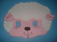 Escolinha Bíblica da Garotada: Máscara de ovelhinha para as crianças...