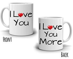 Funny Romantic Couples His and Her Gift Coffee Mug Wedding Anniversary Valentines Day Dating Present for Husband Wife Girlfriend and Boyfriend  Printed on Both Sides *** Visit the image link more details.