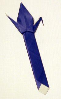 paper crane origami bookmark