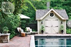 doors on this shed are cute.