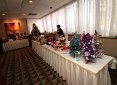 Table Full of Raffle Items Leukemia And Lymphoma Society, Table Settings, Trees, Table Decorations, Home Decor, Decoration Home, Room Decor, Tree Structure, Place Settings